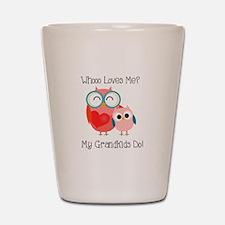 Owl Grandkids Shot Glass