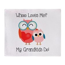 Owl Grandkids Throw Blanket