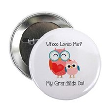 "Owl Grandkids 2.25"" Button"
