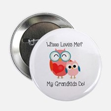 """Owl Grandkids 2.25"""" Button"""