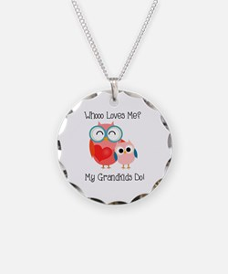 Owl Grandkids Necklace