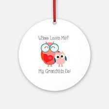 Owl Grandkids Ornament (Round)
