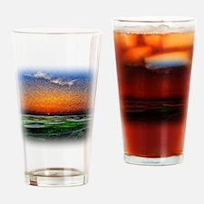 Monet Sunrise over 18 Green Drinking Glass