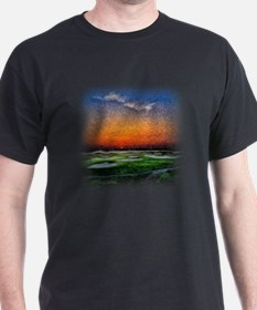 Monet Sunrise over 18 Green T-Shirt