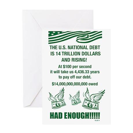 national debt Greeting Card