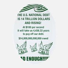 national debt Oval Ornament