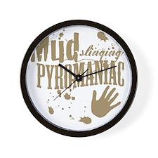 Mud Slinging Pyromaniac Wall Clock