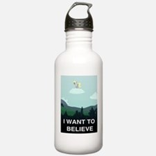 I WANT TO BELIVE Funny Water Bottle