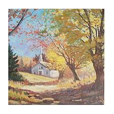 autumn light Tile Coaster