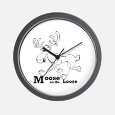 Moose On The Loose Wall Clock