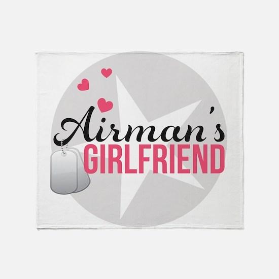 Airman's Girlfriend Throw Blanket