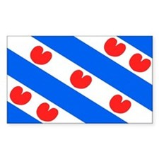 Friesland Rectangle Stickers