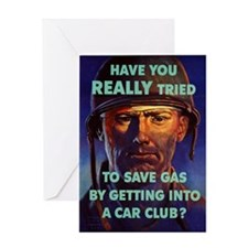 HAVE YOU REALLY TRIED TO SAVE GAS BY Greeting Card