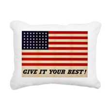 GIVE IT YOUR BEST WWII U Rectangular Canvas Pillow