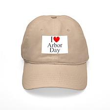 """""""I Love (Heart) Arbor Day"""" Baseball Cap"""