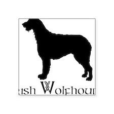 """Irish Wolfhound Square Sticker 3"""" x 3"""""""