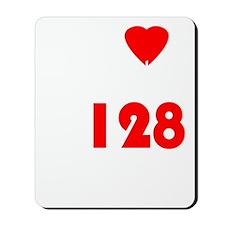 My Heart Beats At 128 BPM Version 1 Mousepad