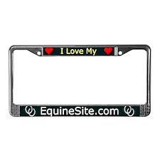 I Love My EquineSite.com License Plate Frame