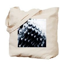 Close up of bicycle gears Tote Bag