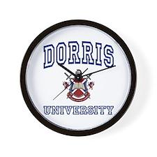 DORRIS University Wall Clock
