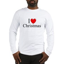 """I Love (Heart) Christmas"" Long Sleeve T-Shirt"
