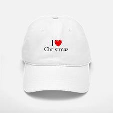 """""""I Love (Heart) Christmas"""" Baseball Baseball Cap"""