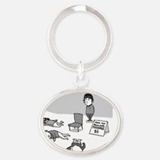 Vulcan Massage Oval Keychain