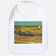 The Harvest - Van Gogh - c1888 Cotton Baby Bib