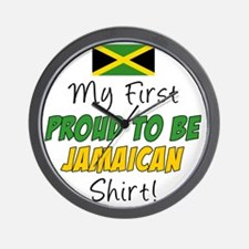 First Proud To Be Jamaican Wall Clock