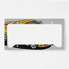 Yellow Lamborghini License Plate Holder
