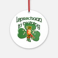Leprechaun In Training Ornament (Round)