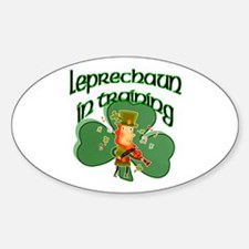 Leprechaun In Training Oval Decal