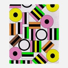 Liquorice All-Sorts IV Throw Blanket