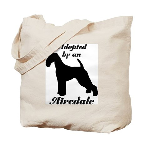 ADOPTED by Airedale Tote Bag