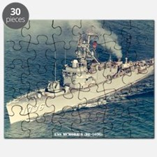 uss mcmorris framed panel print Puzzle
