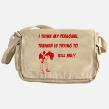 trainer is trying to kill me Messenger Bag