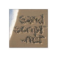 "sandscript.net Square Sticker 3"" x 3"""