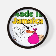 Made In Jamaica Girl Wall Clock