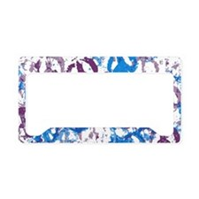 Cool Tone Peace Montage License Plate Holder