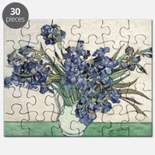 Vase with Irises - Van Gogh - c1890 Puzzle