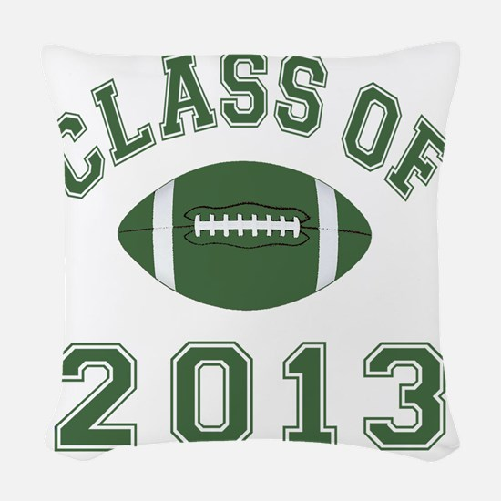 Class Of 2013 Football Woven Throw Pillow