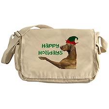 Vizsla Christmas Messenger Bag