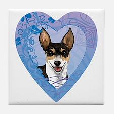 rat-heart Tile Coaster
