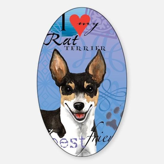 rat-card Sticker (Oval)