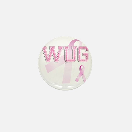 WUG initials, Pink Ribbon, Mini Button