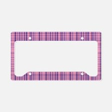 Jazzs Plaid License Plate Holder
