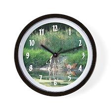 Deer with Fairy Wall Clock