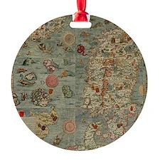 carta marina map Ornament