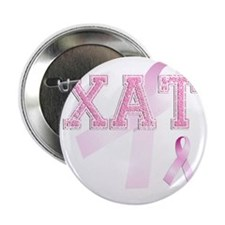 "XAT initials, Pink Ribbon, 2.25"" Button"