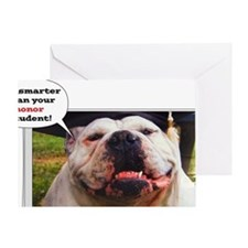English Bulldog graduate Greeting Card